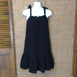 Zara Black Sleeveless Swing Dress